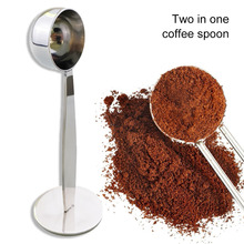 Spoon Scoop Espresso-Stand Tea-Tools Tamper Measuring-Tamping Coffee-Beans Kitchen-Bar