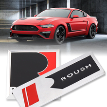 3D Metal R ROUSH Emblem Badge Car sticker Auto Side fender Trunk Decals for Ford Roush