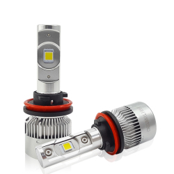CNSUNNYLIGHT COB LED H7 H4 H11 Car Headlight Bulbs With Mini Size Heatsink 12000LM 5500K Auto Headlamp For Car Front Fog Lights
