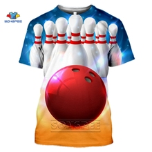 Summer Top Tshirt Streetwear Sports-Bowling Hip-Hop-Style Fashion Full-Printing 3D SONSPEE
