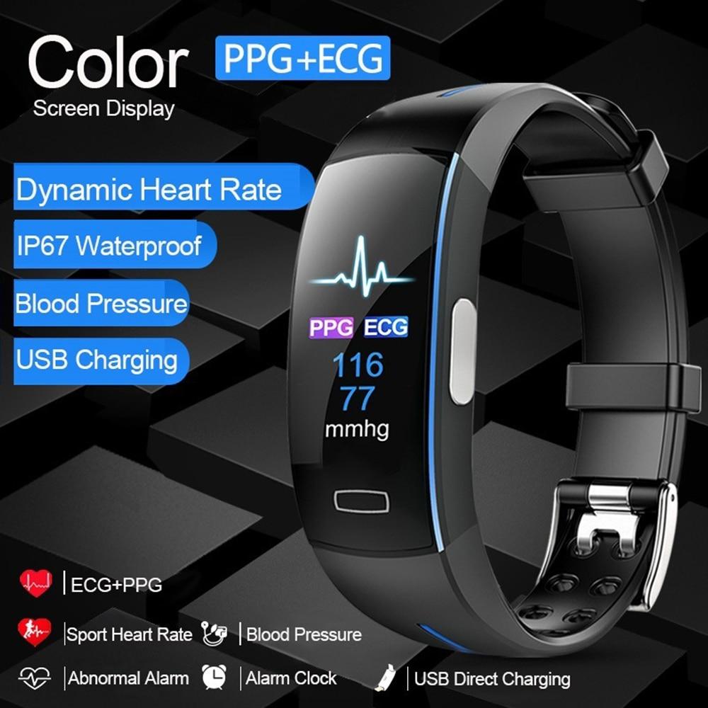Smart Watch for Men Women Kids with ECG PPG <font><b>Calorie