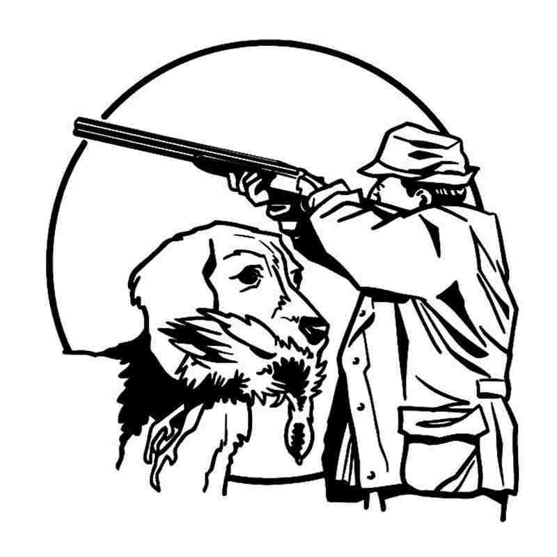 Pegatina Hunt Dog Decal Hunting Dog Shotgun Sticker Hollow Sticker Hunter Car Window Vinyl Decal Funny Poster Motorcycle