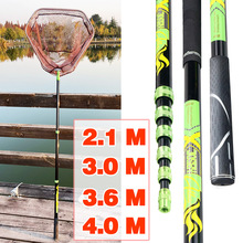 Net Fishing-Net Ultralight Folding Carbon Retractable Pole 4M Positioning