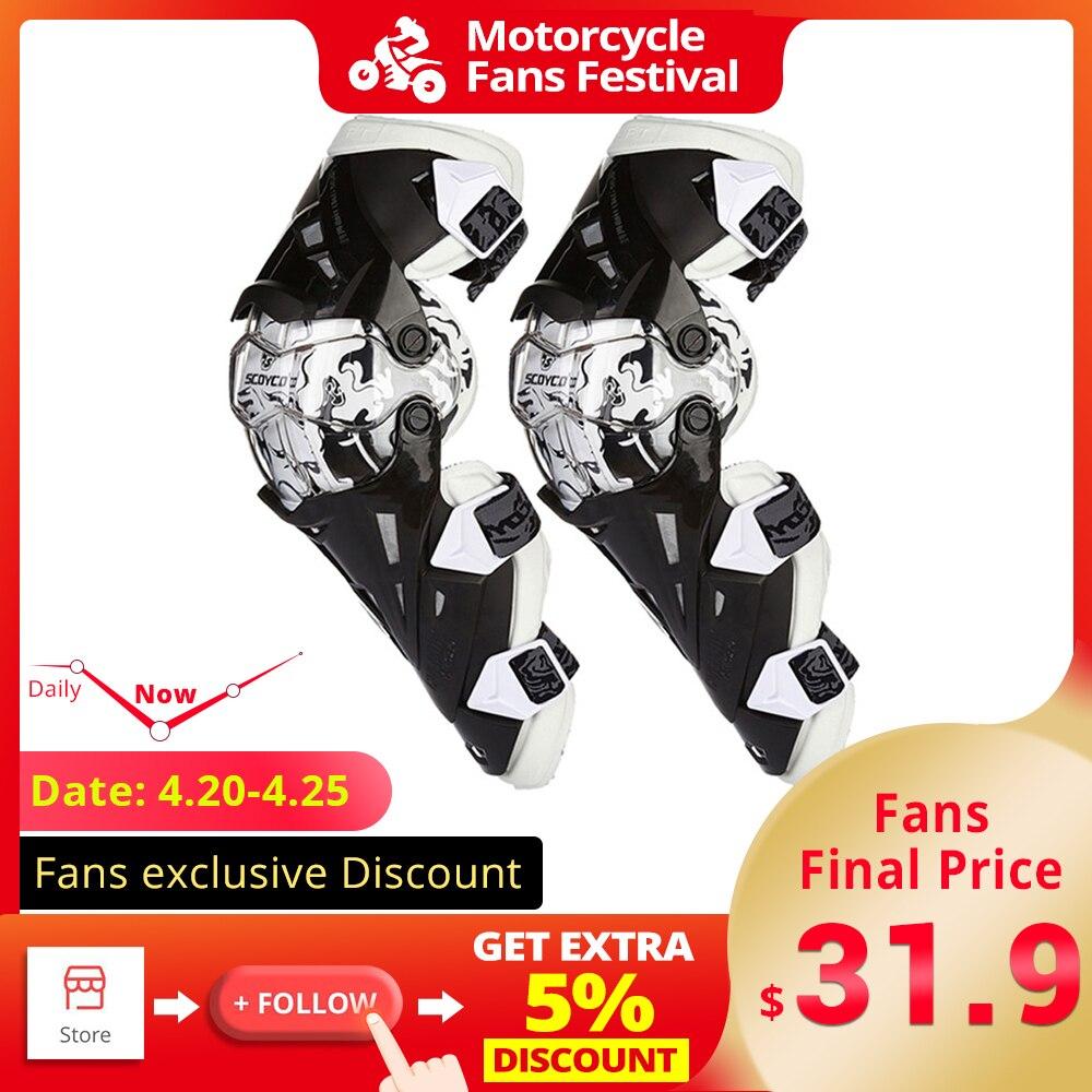 KT-SUPPLY Ensemble de Genouill/ères Pour Moto V/élo Protection des Genouill/ères et des Coudes Motocross