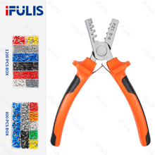 PZ0.25-2.5 Crimp Terminal Set Wire Connectors Ferrule Crimper Plier Crimping Tool 1200pcs 800PCS Tube Terminal Kit