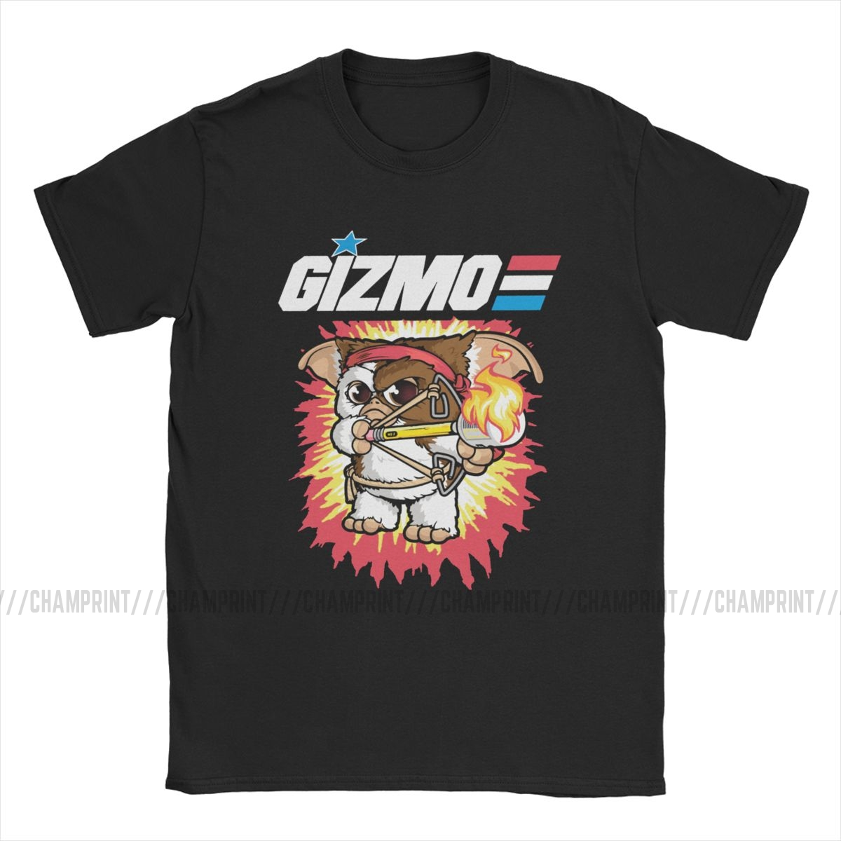 Gremlins T-Shirt for Men Gizmo 80s Movie Mogwai Monster Retro Sci Fi Casual Cotton Tees Short Sleeve T Shirt 4XL 5XL 6XL Tops