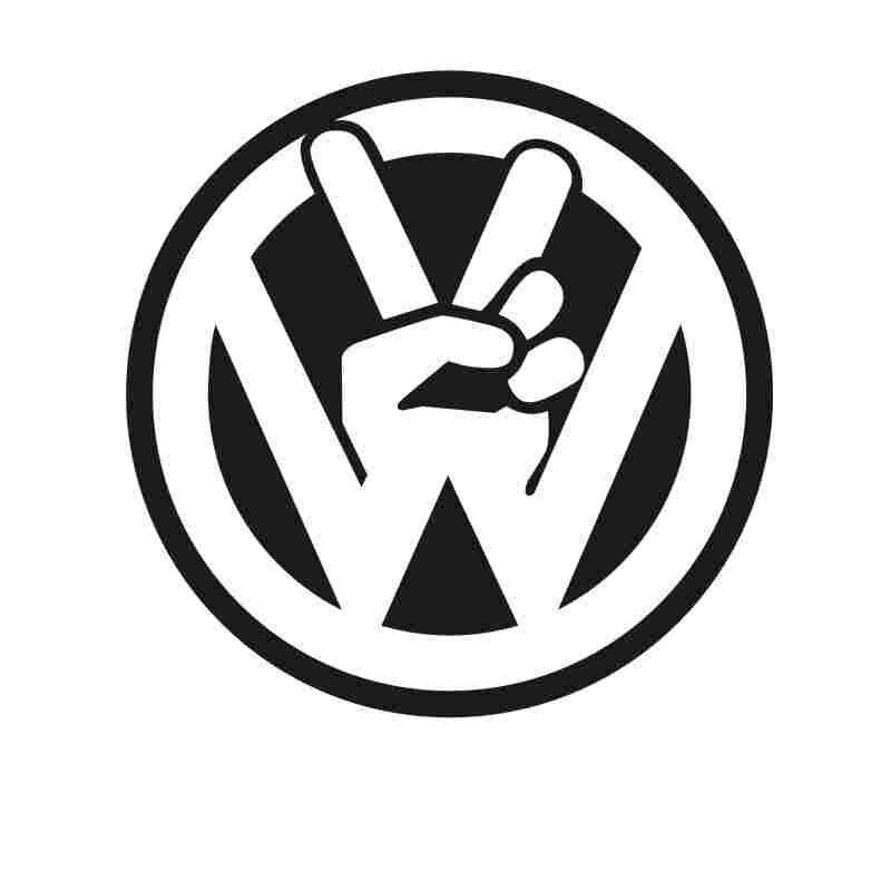 Pegatina Volk V VW CAR TRUCK WINDOW Funny Car Window Decal Bumper Sticker Vinyl Truck Sticker Racing Mechanic Posters