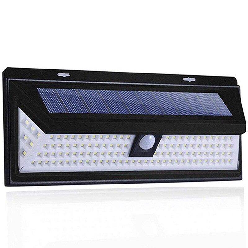 118 светодиодный светильник на солнечной батарее, уличный солнечный светильник с датчиком движения, точечный светильник на солнечной батарее, 3 режима, настенный солнечный светильник для украшения уличного сада