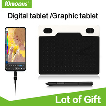 10moons Graphic Tablet Android-Device Digital Ultralight 6inch 8192 Battery-Free-Pen