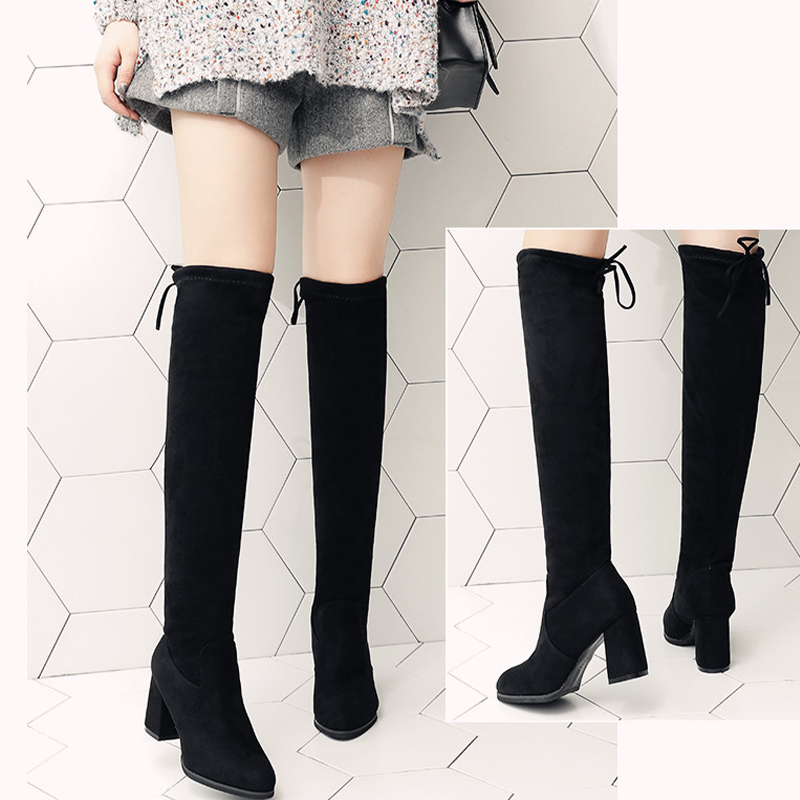 Women Over the Knee Boots Woman Autumn Winter Warm Shoes Ladies Fashion Sexy High Heels Female Shoes Women