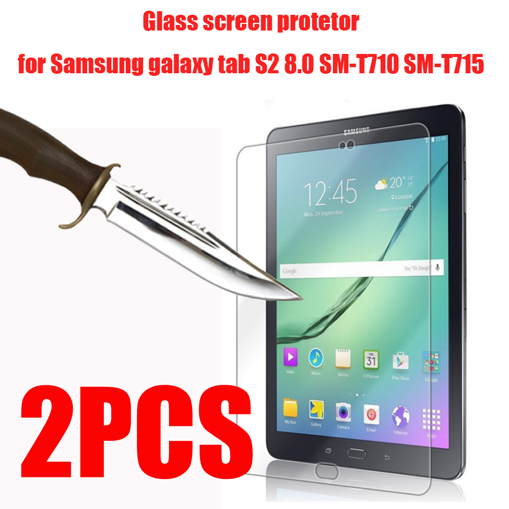 2PCS Tempered Glass  Screen Protector for Samung Galaxy Tab S2 S3 S4 S5e S6 Lite 8.0 9.7 10.4 10.5 T860 T720 T830 T820 P610