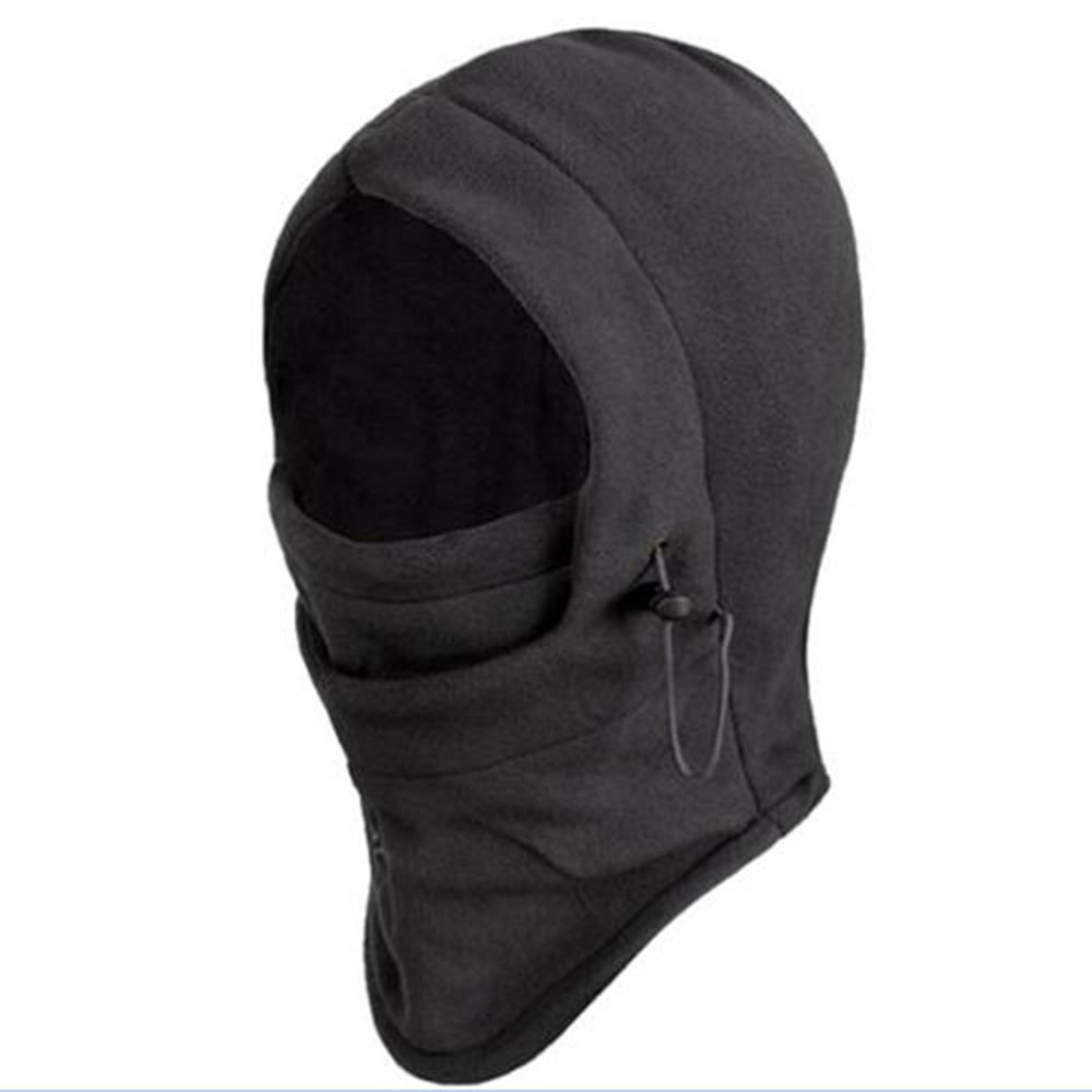 Fleece Balaclava Masked-Cap Beanies Face-Mask Hooded Neck-Warmer Motorcycle Helmet Bike title=