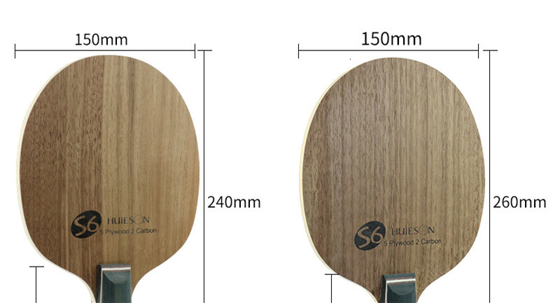 Super Quality Table Tennis Racket Blade Walnut Ayous 5 Plywood 2 Ply Carbon Ping Pong Blade for Senior Players S6 (2)