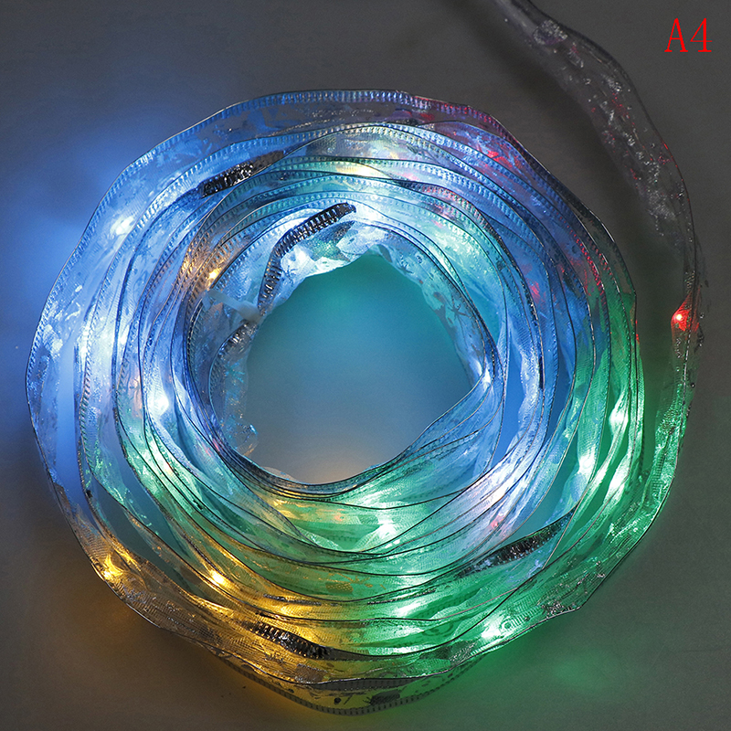 Lace Ribbon Led String Lamp 4M 4Colors Leds Patry Gift Bow Box Fairy Christmas Tree Decor