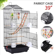 Parrot Cage Nest Bird-House Pigeon-Supplies Breeding-Cage Metal-Peony Bed-Iron NEW