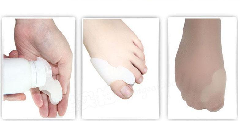 Silicone Gel Foot Fingers Toe Separator Thumb Valgus Protector Bunion Adjuster Hallux Valgus Pro Guard Feet Care (2)