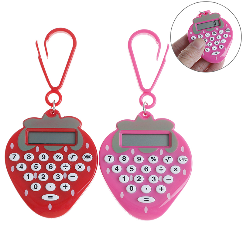 1pc Student Mini Electronic Calculator Candy Color Calculating Office Supplies Gift Pocket Solar Power Calculator Randomly
