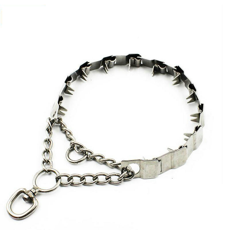 Martingale Dog Prong Collar Pet Training Pinch Choke Chain Necklace Rubber Tips