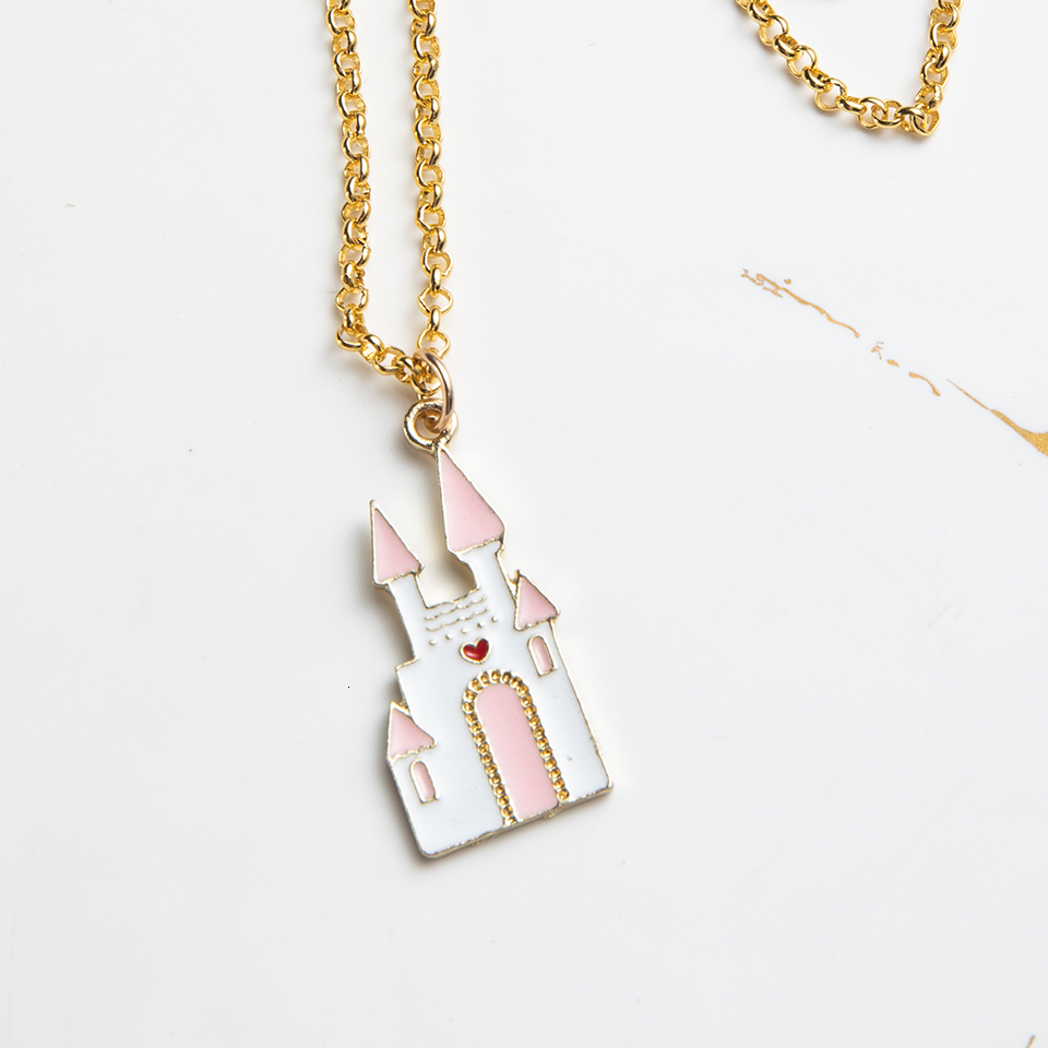 Anime Character Cartoon Necklaces Women Girl Children Christmas Deer Stocking Santa Claus Planet Moon Star Necklace&Pendant Gift (25)