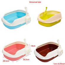 Cat-Litter-Box Toilet Sandbox Anti-Splash-Toilette Dog-Tray Home with Puppy Indoor C6UE