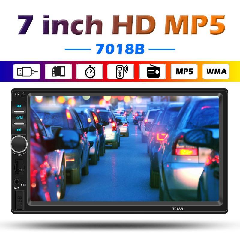 "7/"" Double Din Car Stereo Radio Touch Bluetooth MP5 Player Head Unit FM USB 7018B"