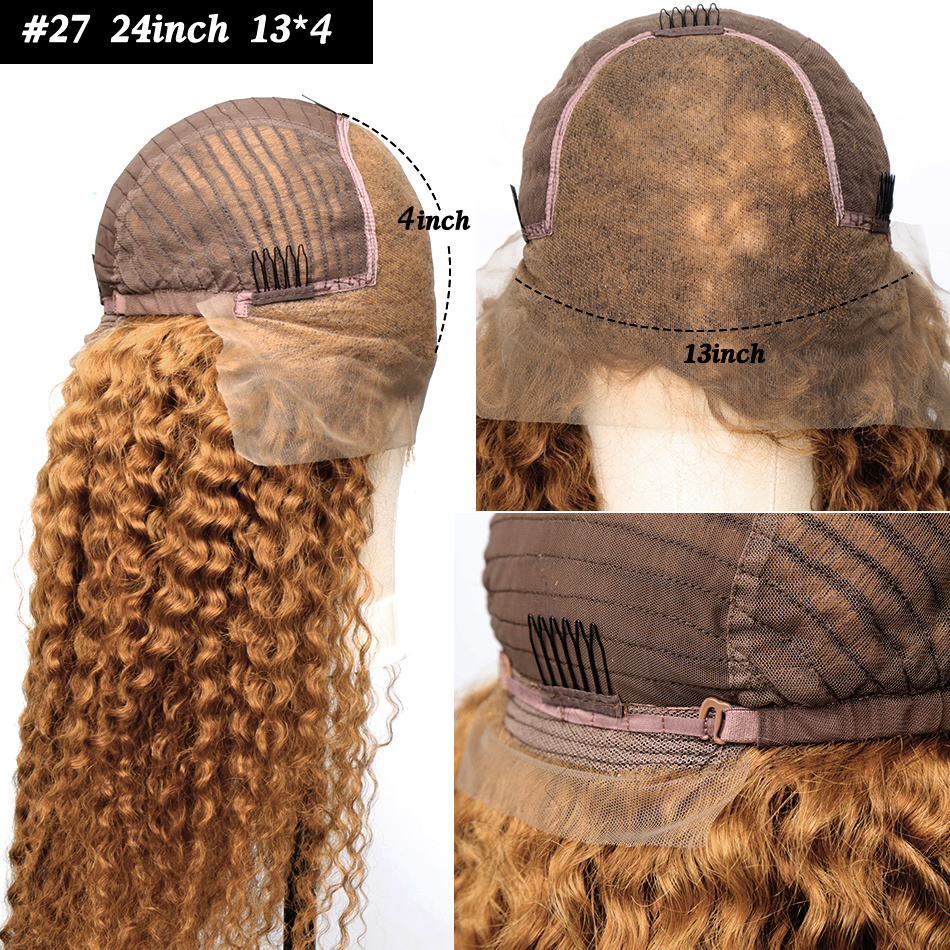 Ombre-Colored-13x6-Curly-Lace-Front-Human-Hair-Wigs-Pre-plucked-For-Black-Women-Brazilian-Blonde