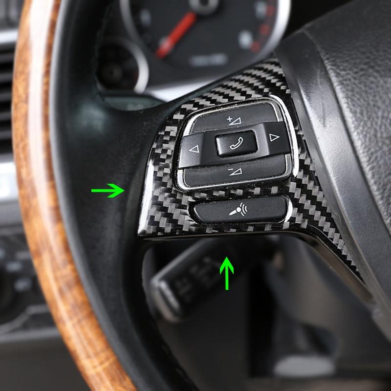 Carbon Fiber style Interior Steering wheel trim For Volkswagen Touareg 2011-2017