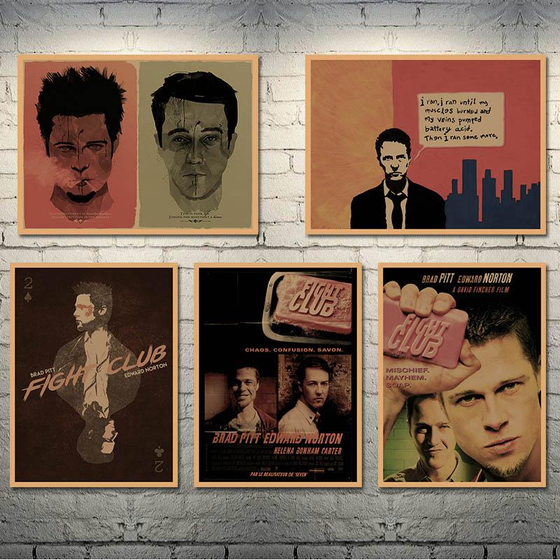 Fight Club 1999 Classic Movie Art Silk Poster Canvas Print 12x18 24x36inch 006