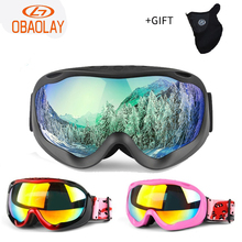 Ski-Goggles Glasses Uv400-Protection Skiing Snow Women Obaolay with Anti-Fog