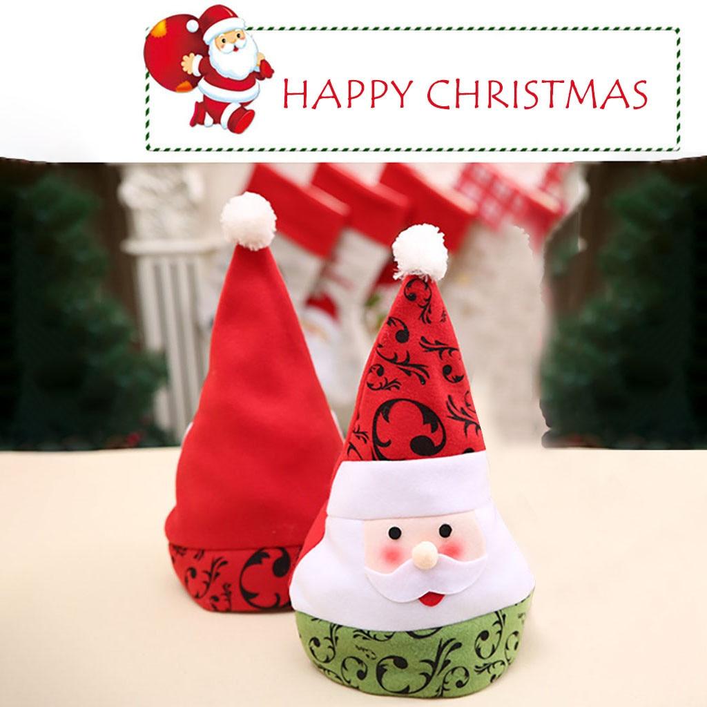 Pack 6 Gorro Pap/á Noel de Navidad de Santa Claus de Terciopelo con Luz intermitente de N/úmero 2021 para Adultos y Ni/ños Sombreros Rojos