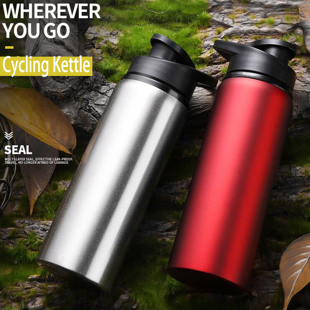 1x Portable Stainless Steel Water Bottle Travel Outdoor Hiking Sport Accessory