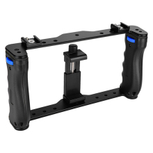 Cage Stabilizer-Rig Phone-Camera Smartphone Dual-Handle-Grips Handheld Metal Portable