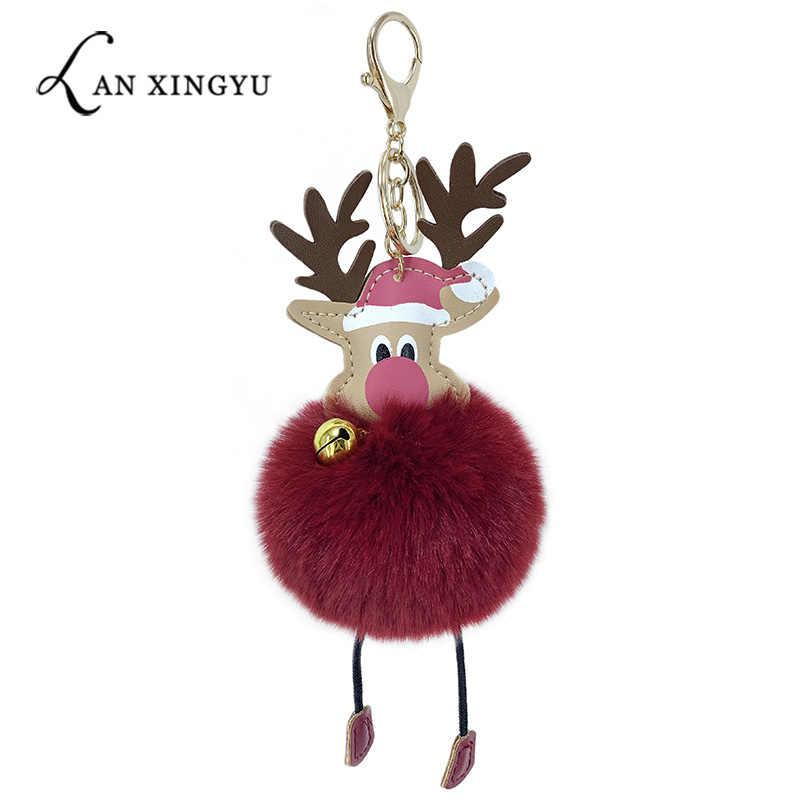 Ornamento de conejo imitación de cuero regalo de Navidad Presente