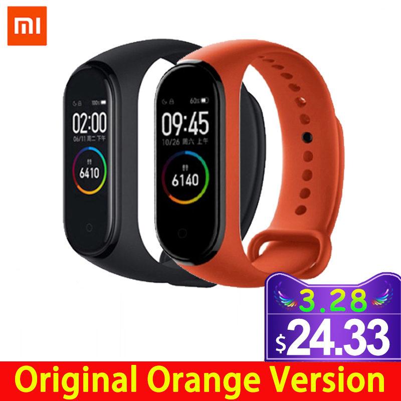 Xiaomi Smart Bracelet Mi-Band Touch-Screen Fitness-Color Bluetooth 4-Heart-Rate Music title=