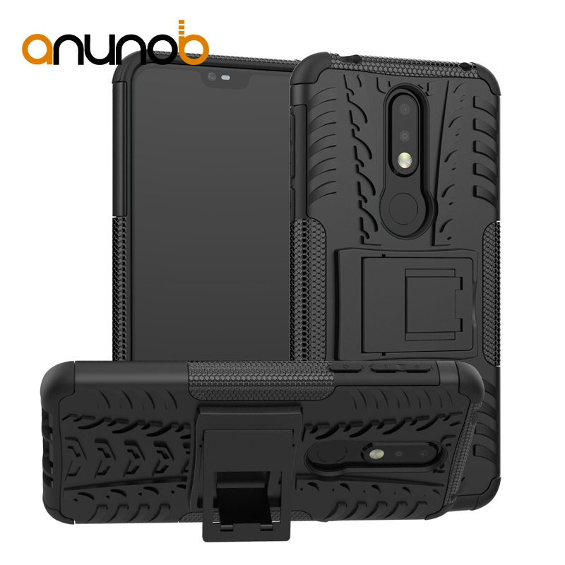 Armor Case For Nokia 6.1 7.1 5.1 3.1 8 6 5 3 2 1 E1 Plus 2018 Case for Oneplus 6T 5T 6 5 OP5T Cover Coque Oukitel C8 kickstand