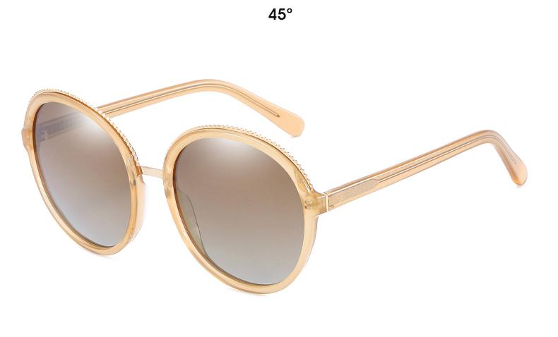 Women Sunglasses Frame Glasses Polariod Lens UV400 Polarized Sunglasses Women Fashion Round Frame Eyewear Glasses (29)