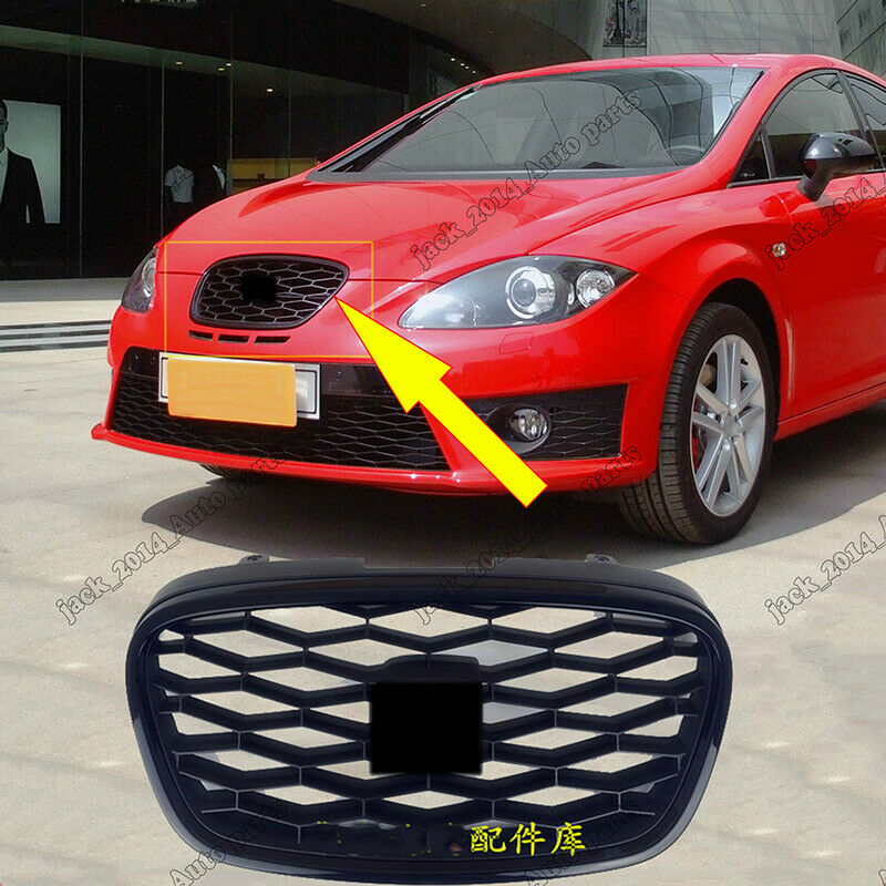 FOR SEAT LEON 1P1 2009-2012 NEW FRONT BUMPER CENTER LOWER GRILL GRILLE