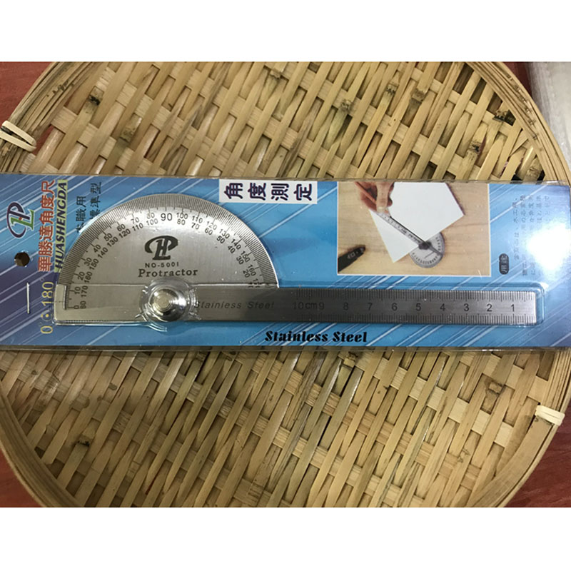 Metal Ruler 10cm Patchwork Straight Ruler for Student 180 Protractor Stainless Steel Drawing Template Tool School Stationery New