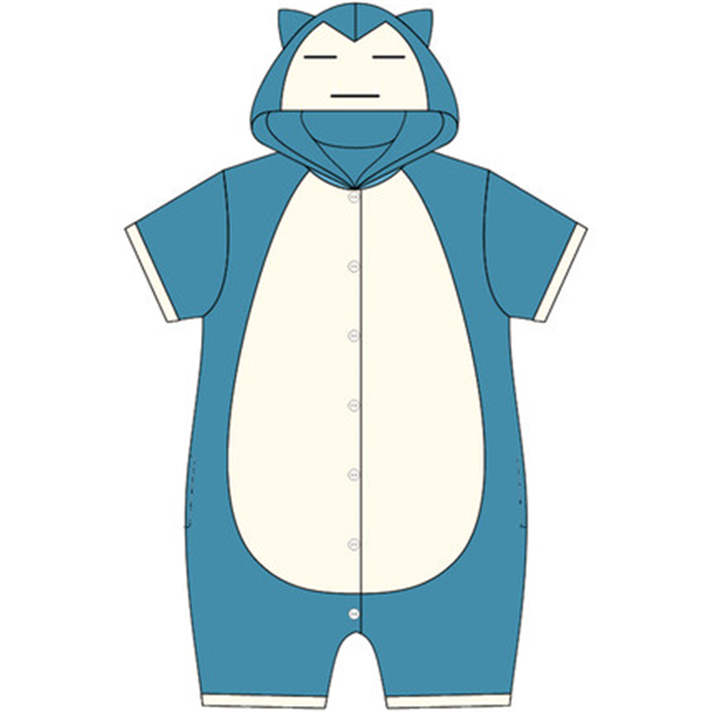 Anime Pokemon New Cute Snorlax Cosplay Costumes Pajamas Jumpsuits Pajamas Daily Home Sleepwear Teenagers Lovers/' Clothes Gift