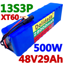 100% original NEW 48V29Ah 500w 13S3P 48V Lithium ion Battery Pack 29000mah For 54.6v E-bike Electric bicycle Scooter with BMS