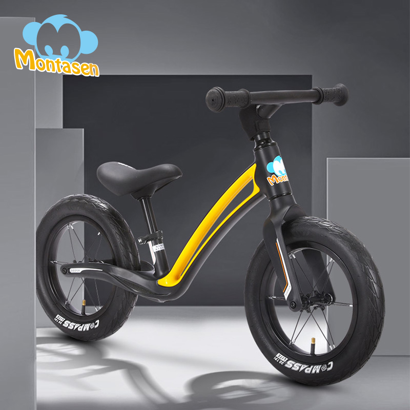 Bike Scooter Balance Cycling Baby No-Pedal Walk Children's MONTASEN Kids' 12in Best-Gift title=