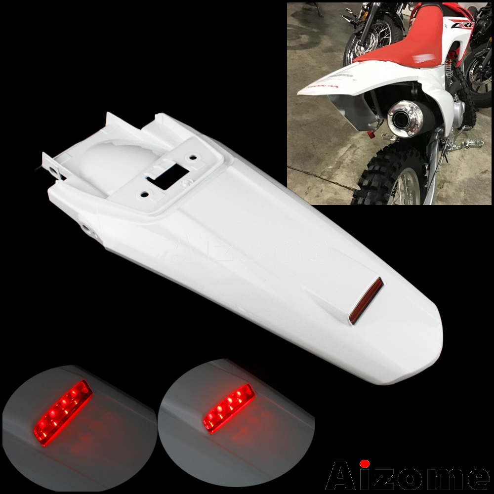 NEW HONDA 03-14 CRF 230F WHITE PLASTIC REAR MOTORCYCLE FENDER CRF230F