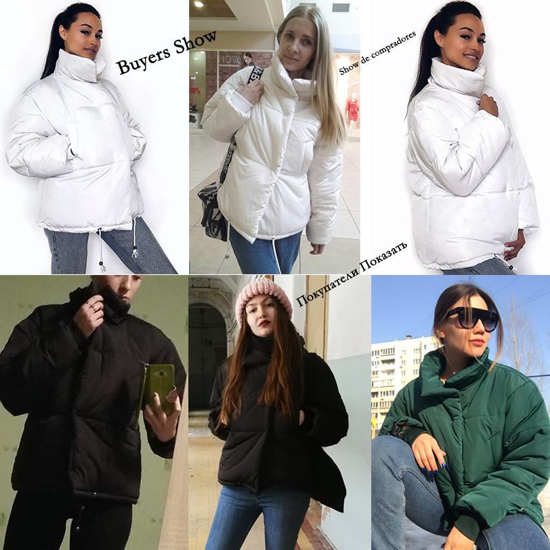 Autumn Winter Jacket Women Parkas Mujer 19 Fashion Coat Loose Stand Collar Jacket Women Parka Warm Casual Plus Size Overcoat 3