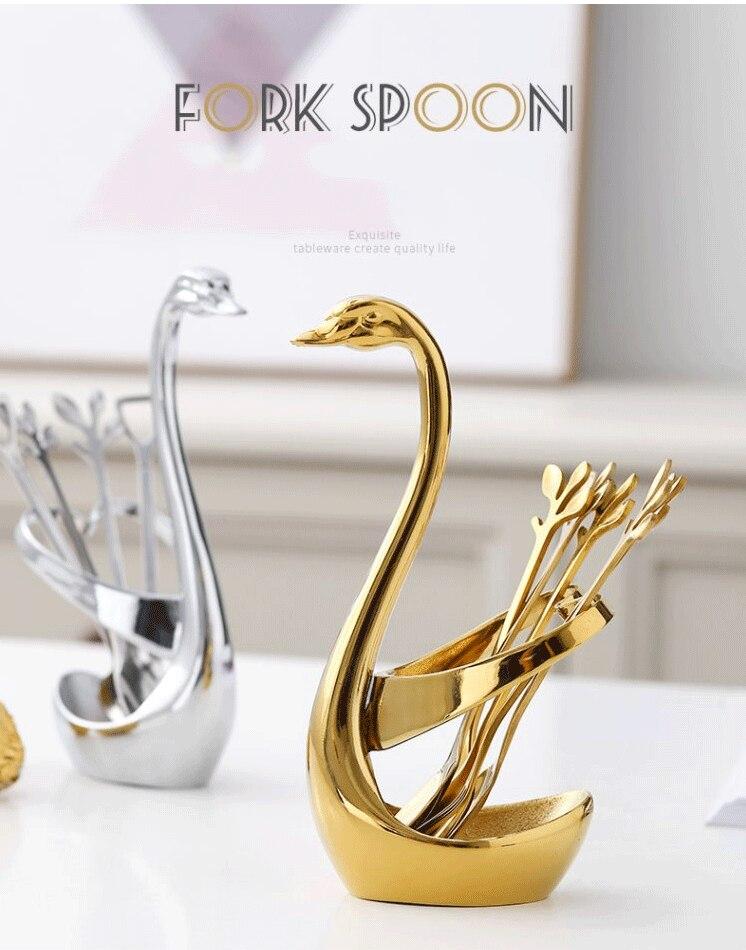 Swan Bird Fork Dessert Fork Wedding