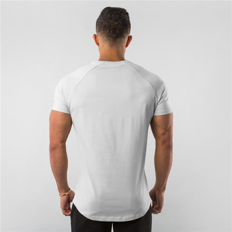 New Summer Sportswear Mens O-neck T Shirts Fashion Men's Tops Cotton Fitness T-shirt Gym Short Sleeve Bodybuilding Tshirt