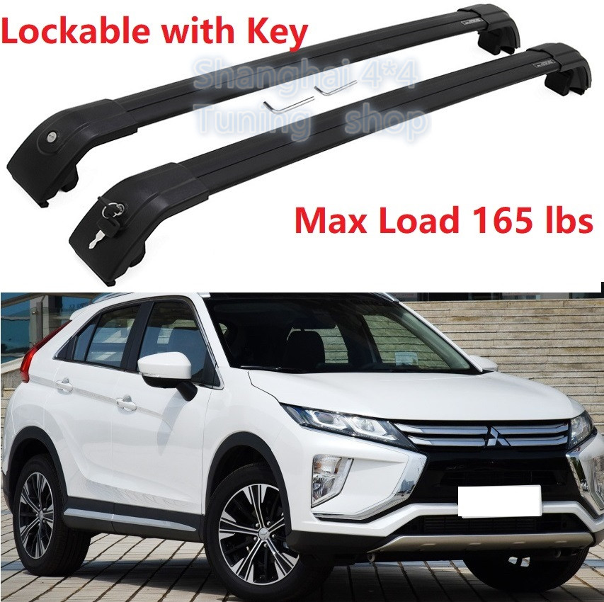 2010-2016 For Mitsubishi RVR//ASX Top Roof Rail Racks Luggage Carrier Side Bars Black