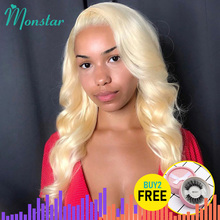 13x6 613 Honey Blonde Preplucked Brazilian Wig Remy Hair Body Wave Wig Glueless Lace Front Human Hair Wigs for Black Women