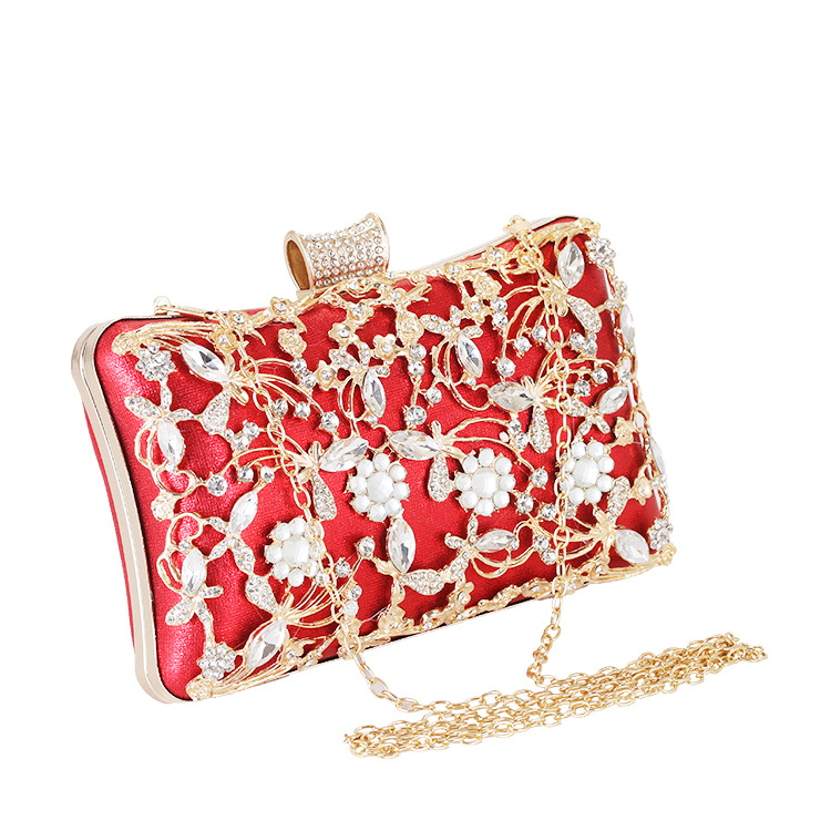 2020 summer new European and American sense of metal evening bag lady fashion chain bag dinner will be luxury fashion evening ha