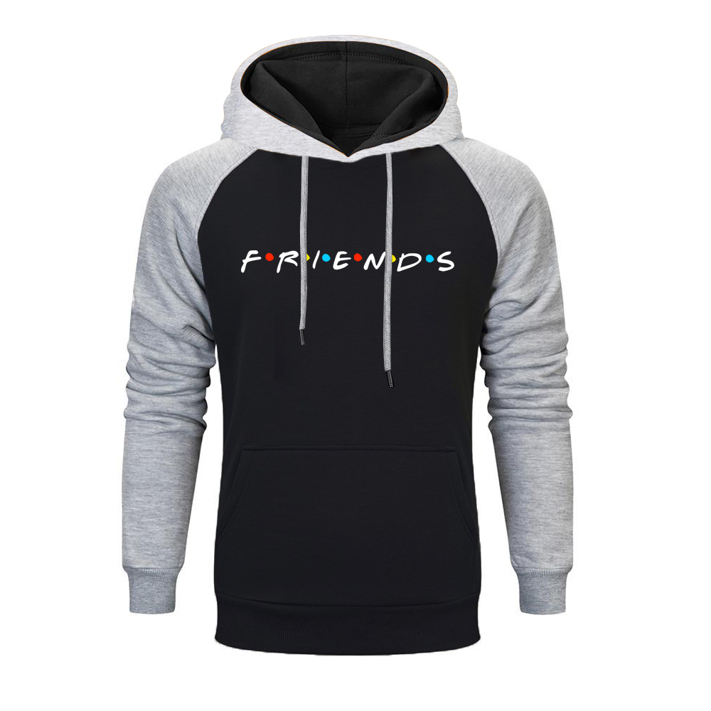 Winter Men Friends TV Show Harajuku Raglan Hoodie Sweatshirts Autumn Funny Print Friends Men Hoody Streetwear Long Coat