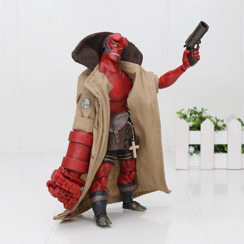 "Hellboy Anung Un Rama 1//12 6/"" Action Figure Cloth Gown Sword Gun KO 1000toys"